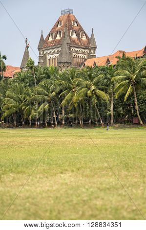 Building Of Bombay High Court In Mumbai, India