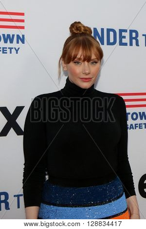 LOS ANGELES - MAY 3:  Bryce Dallas Howard at the Under the Gun Premiere at the Samuel Goldwyn Theater on May 3, 2016 in Beverly Hills, CA