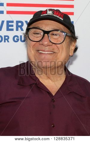 LOS ANGELES - MAY 3:  Danny DeVito at the Under the Gun Premiere at the Samuel Goldwyn Theater on May 3, 2016 in Beverly Hills, CA