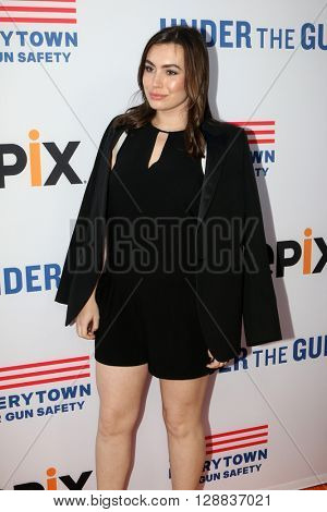LOS ANGELES - MAY 3:  Sophie Simmons at the Under the Gun Premiere at the Samuel Goldwyn Theater on May 3, 2016 in Beverly Hills, CA