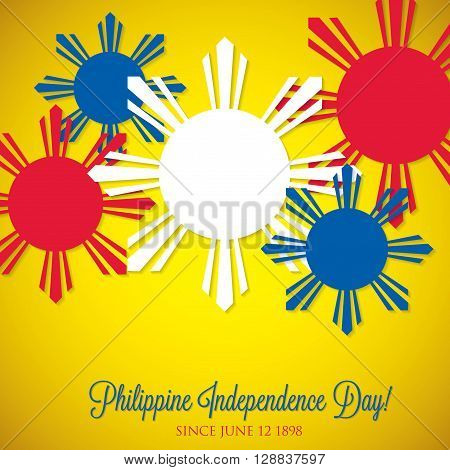 Overlay Philippine Independence Day Card In Vector Format.