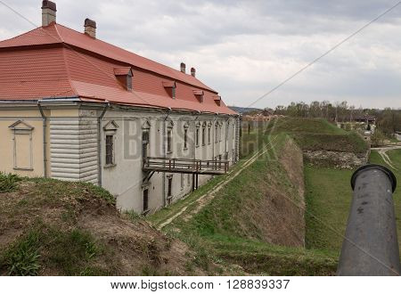 Defensive installations around Zolochiv castle. Western Ukraine. Europe