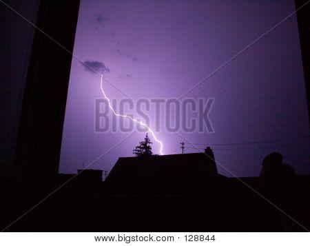 Lightning Over Suburbia