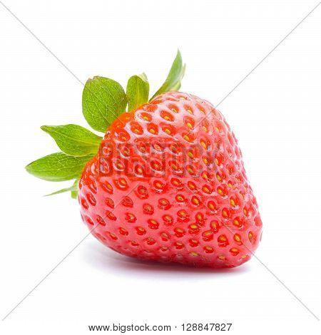 strawberry isolated on white background in studiio