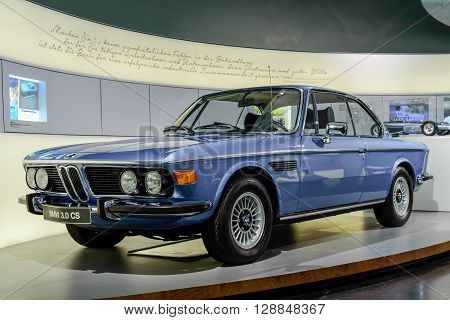 Munich Germany April 19 2016 - old BMW 3.0 CS