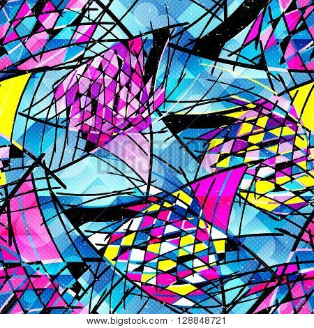 Graffiti color seamless background vector illustration abstract high quality