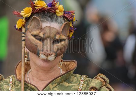 Participant With Animal Mask