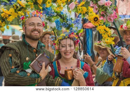 Couple Wiht Medieval Costumes