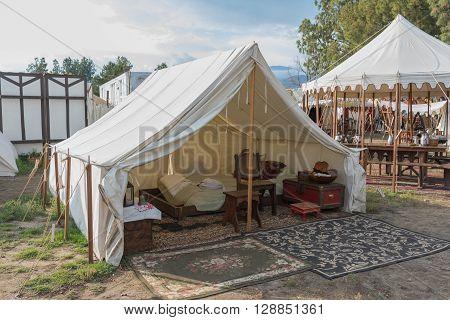 Medieval Camp On Display