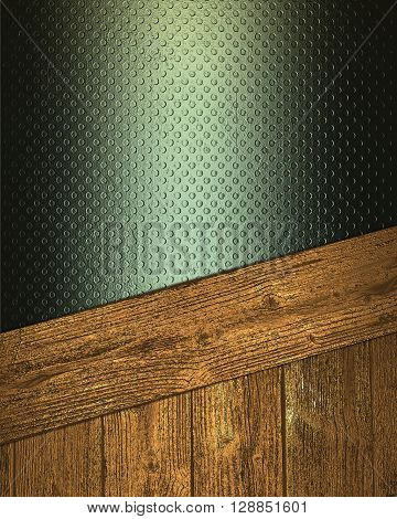 Grunge Green Background With Wood Trim. Template For Design. Copy Space For Ad Brochure Or Announcem