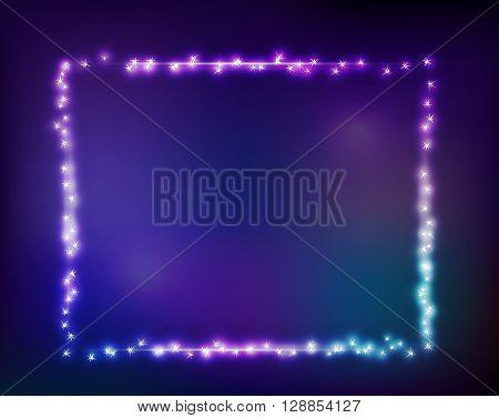 Vector constellation frame in space. Stock illustration of star frame for design