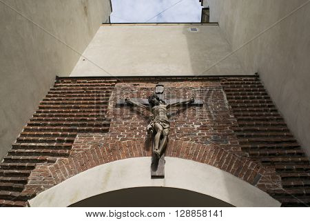 Jesus Christ on cross. Religion, belief and hope. Holy and sacred places.
