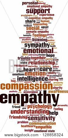 Empathy word cloud concept. Vector illustration on white
