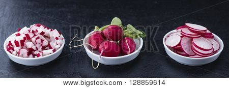 Radishes (whole, Sliced And Diced)