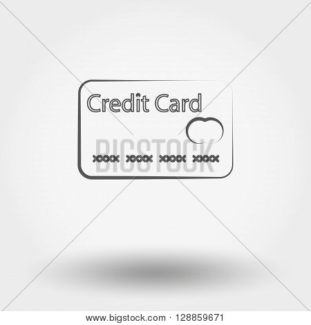 Simple line web icon Credit card. Vector illustration on a white background.
