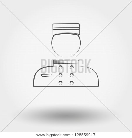 Simple line web icon Porter. Vector illustration on a white background.