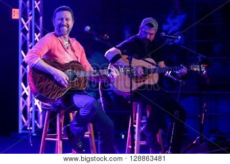 PATCHOGUE, NY-FEB 3: Musician Craig Morgan (L) performs onstage at The Emporium on February 3, 2016 in Patchogue, New York.