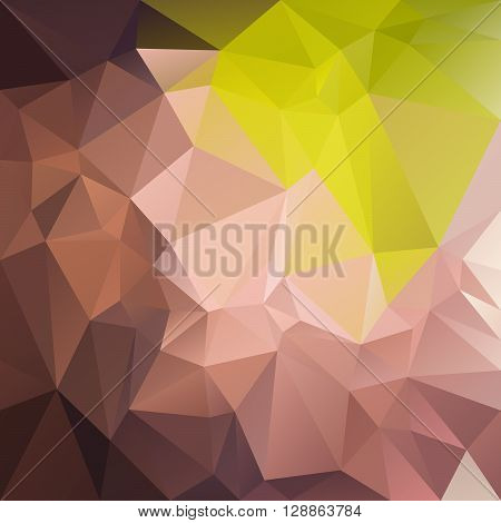 vector abstract irregular polygon background with a triangular pattern in natural brown and green colors