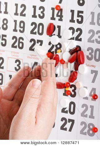 pills on the hand