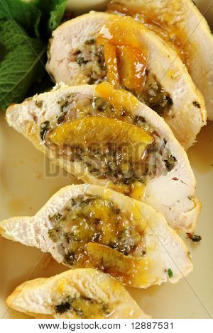 Sliced Stuffed Chicken