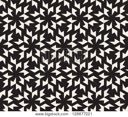 Vector Seamless Black and White Geometric Tessellation Pattern Abstract Background