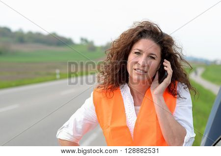 Despondent Female Driver Trying To Summon Help