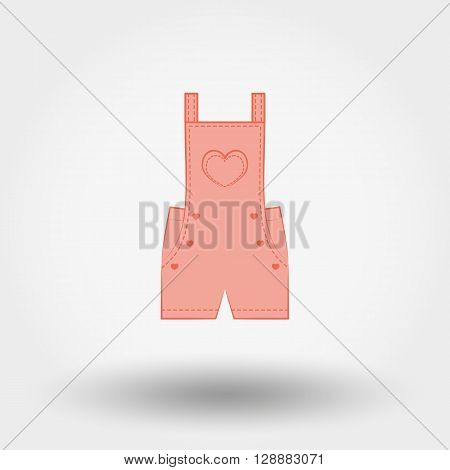 Rompers. Icon for web and mobile application. Vector illustration on a white background. Doodle, cartoon style.