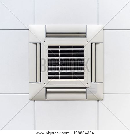 Air Conditioner for climate control on ceiling modern design for office or industry.