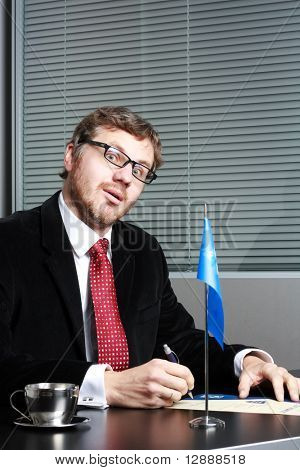 manager in office