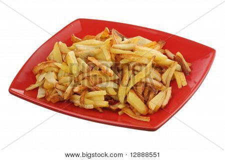 Fried potato on a plate