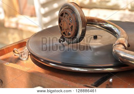 old, antique, vintage, music, archive, record player, gramophone