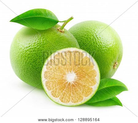 Isolated White Grapefruits