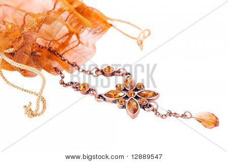 brown jewelery