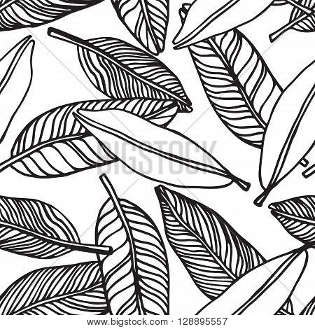 Seamless Tropical Jungle Floral Pattern Background