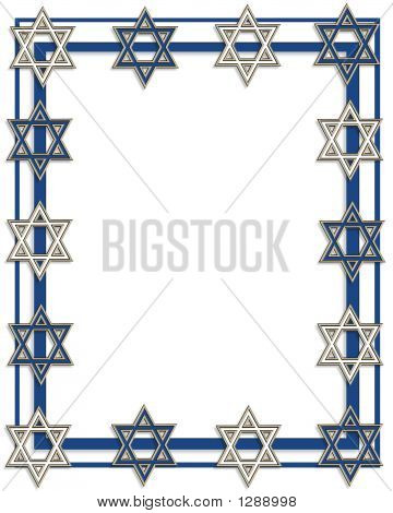 Star Of David Frame Border