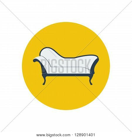 Chaise lounge armchair. Seat. Furniture icon. Vector illustration