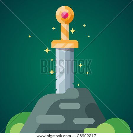 Ancient Sword In The Stone.