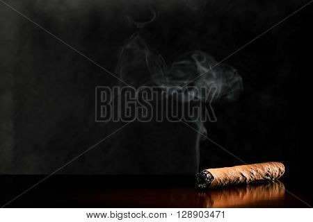 Cigar On Dark Background