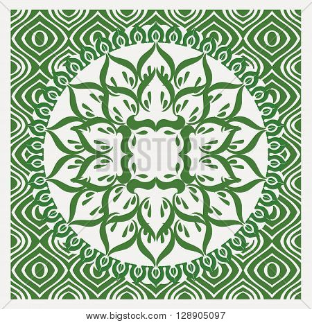 cool vector vintage Pure Nature Green design with seamless abstract background.