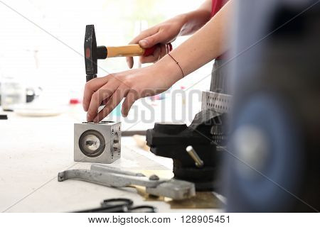 Knocking balls, jeweler, Handmade jewelry. Jewelry tools.