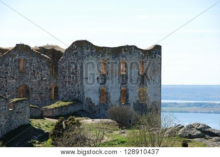Brahehus ruins built in 17th century