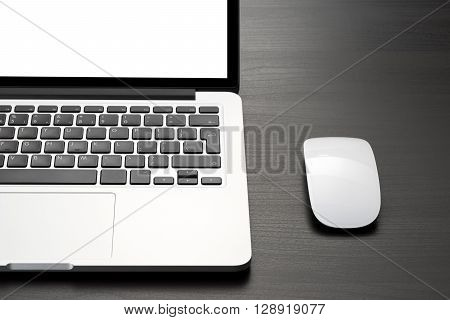 Laptop And Mouse