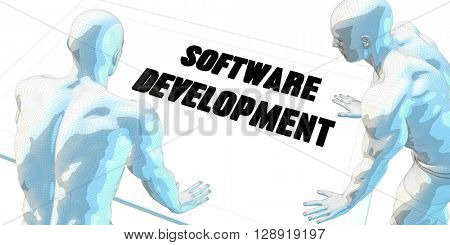 Software Development Discussion and Business Meeting Concept Art 3D Illustration Render