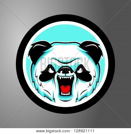 Pandas Circle sticker .eps10 editable vector illustration design