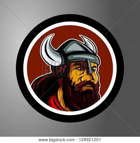 Vikings Circle sticker .eps10 editable vector illustration design