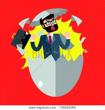 Business man new born .eps10 editable vector illustration design