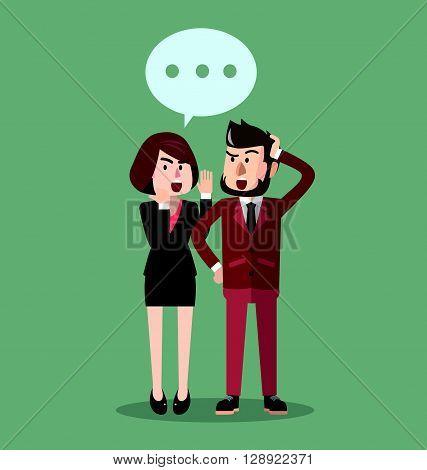 Business man gossip .eps10 editable vector illustration design