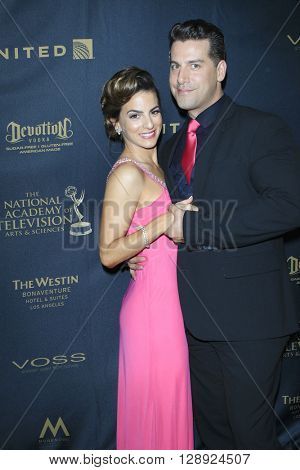 LOS ANGELES - May 1: Renee Marino, Michael Lopez Calleja at The 43rd Daytime Emmy Awards Gala at the Westin Bonaventure Hotel on May 1, 2016 in Los Angeles, California