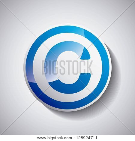 copyright symbol design, vector illustration eps10 graphic