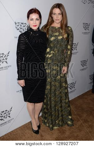 LOS ANGELES - MAY 7:  Priscilla Presley, Riley Keough at the Humane Society Of The United States LA Gala at the Paramount Studios on May 7, 2016 in Los Angeles, CA